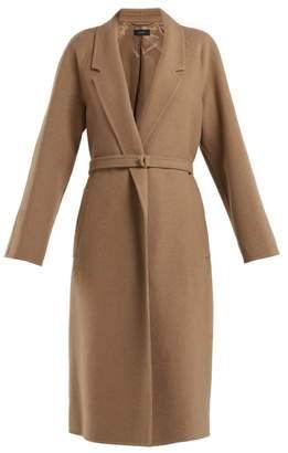 Joseph Solferino Belted Camel Hair Coat - Womens - Camel