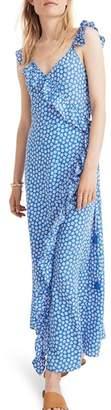 Madewell Ruffle Wrap Maxi Dress