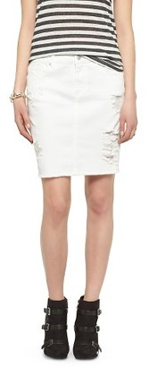 Mossimo Supply Co. Women's Distressed Pencil Skirt - Mossimo Supply Co. (Juniors') $19.99 thestylecure.com