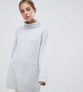 Asos DESIGN Petite chunky sweater in oversize with high neck