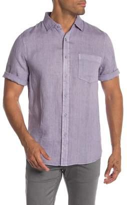 Raffi Solid Linen Short Sleeve Casual Shirt