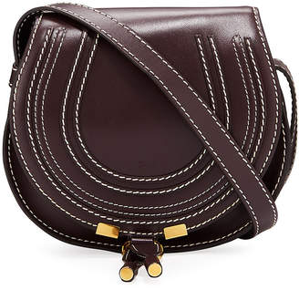Chloé Marcie Small Leather Crossbody Saddle Bag