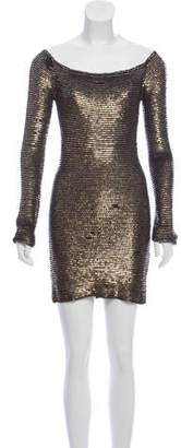 Alexander Wang Sequined Long Sleeve Dress