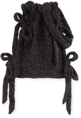 Simone Rocha Tinsel Bow Drawstring Bucket Bag
