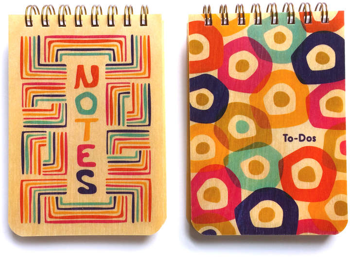 Candy Colors Wood Mini Notepad - Set of Two