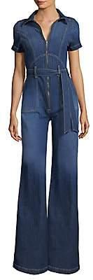 Alice + Olivia Jeans Jeans Women's Gorgeous Collar Wide-Leg Jumpsuit