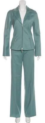 Thierry Mugler Wool Zip-Up Pantsuit
