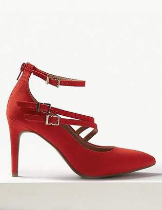 Marks and Spencer Stiletto Heel Multi Strap Pointed Court Shoes