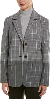Derek Lam 10 Crosby Oversized Plaid Blazer Jacket
