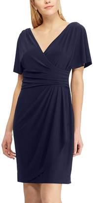 Chaps Women's Pleated Faux-Wrap Dress
