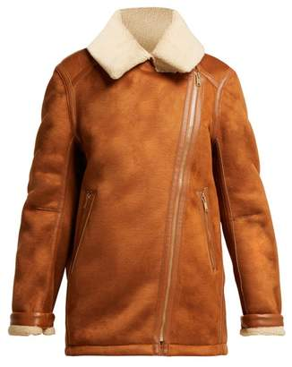 Stella McCartney Faux Shearling Jacket - Womens - Camel