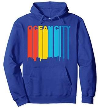 Retro 1970's Style Ocean City Maryland Skyline Hoodie