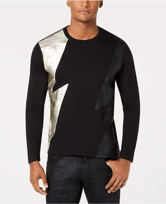 INC International Concepts I.n.c. Men's Long-Sleeve Lightning T-Shirt