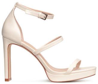 H&M Platform Sandals - White