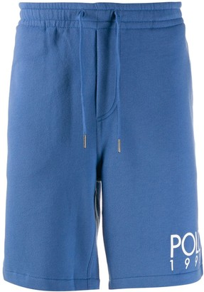 Polo Ralph Lauren logo print track shorts