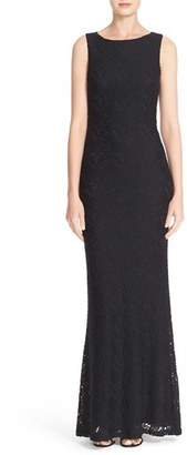 Women's Alice + Olivia 'Sachi' Open Back Lace Maxi Dress $398 thestylecure.com