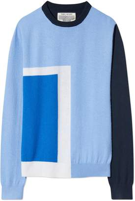 Tory Sport PERFORMANCE CASHMERE GRAPHIC-BLOCK SWEATER