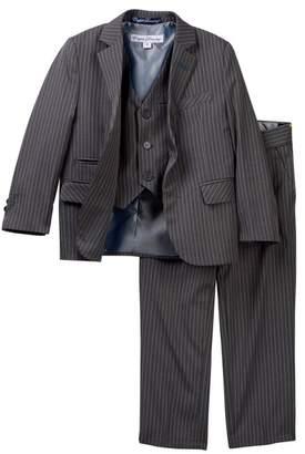 English Laundry 3-Piece Pinstripe Print Suit (Little Boys)