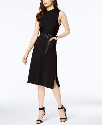 AVEC LES FILLES Belted Midi Dress