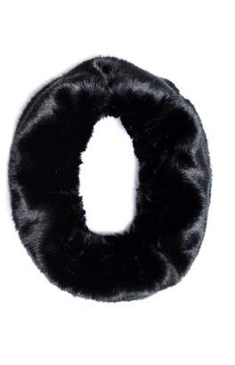 Quiz Black Faux Fur Snood