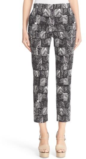 Max MaraWomen's Max Mara Paggio Graphic Print Crop Pants