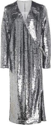 Ganni Sequined Wrap Dress