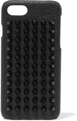 Christian Louboutin Loubiphone Spiked Textured-leather Iphone 7 Case - Black