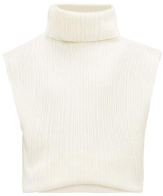Jacquemus Aube Open Back Merino Wool Blend Sweater - Womens - White