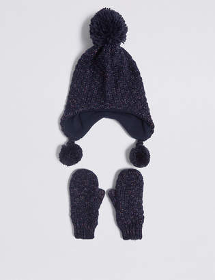 ee13c51e1fb6 Marks and Spencer Kids  Trapper Hat   Mittens Set