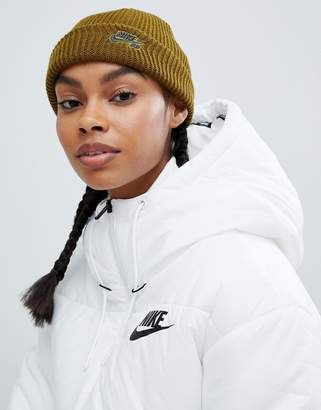 Nike Sb Green Fisherman Beanie Hat