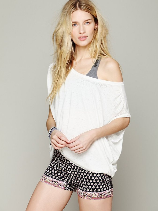 Free People Printed Yoga Shorts