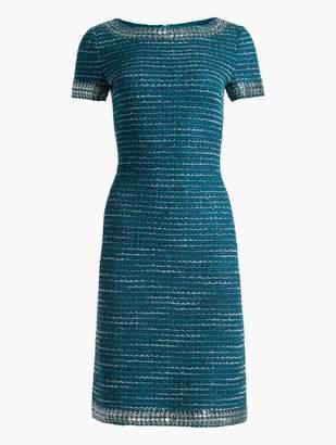 St. John Sequin & Sheen Tweed Knit Dress