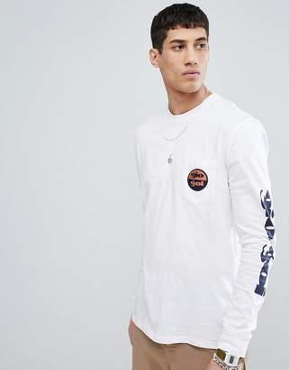 Gio-Goi Long Sleeve Top With Sleeve Print