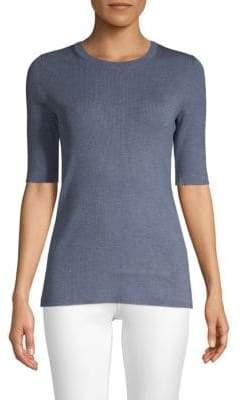 Lafayette 148 New York Skinny Stretch-Silk Sweater