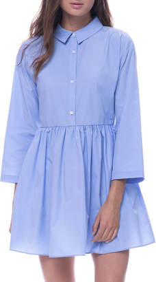 ENGLISH FACTORY 3/4-Sleeve Fit-&-Flare Shirtdress