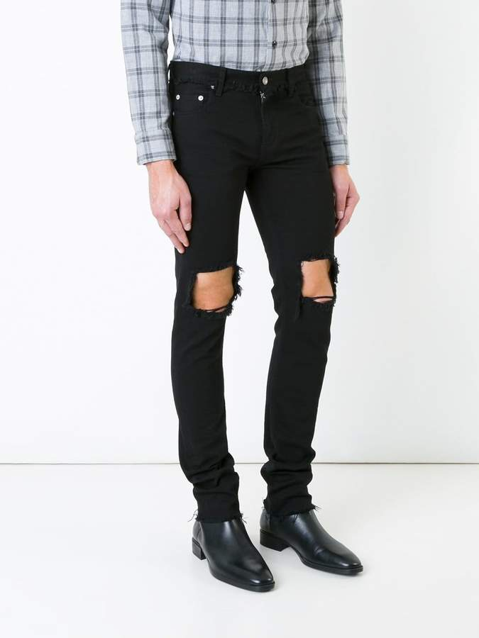Christian Dada ripped skinny jeans
