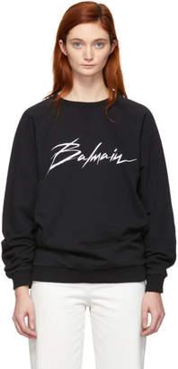 Balmain Black Signature Logo Sweatshirt