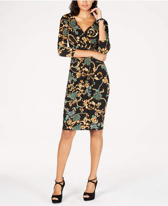 Thalia Sodi Printed Wrap Dress