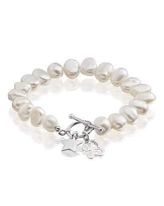 Fashion World Personalised Star Charm Pearl Bracelet