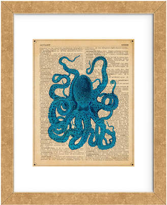McGaw Graphics Vintage Octopus By Sparx Studio Framed Print