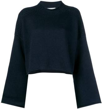 J.W.Anderson navy shoulder cable detail jumper