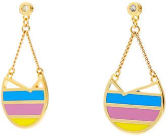 Colette Malouf Gold Ibiza Swing Earrings