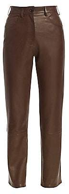 The Row Women's Charlee Leather Jeans - Size 0
