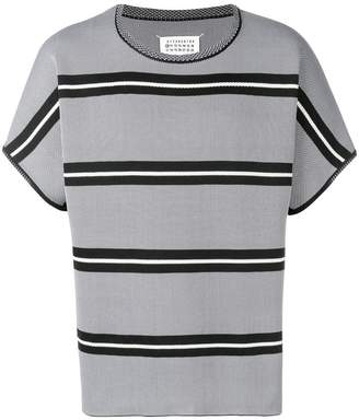 Maison Margiela short-sleeve striped knitted sweater