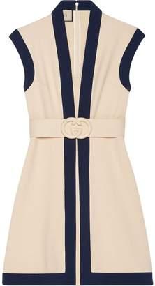 Gucci Viscose jersey dress with GG belt