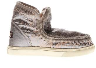 Mou Eskimo Silver Pink Leather Boots