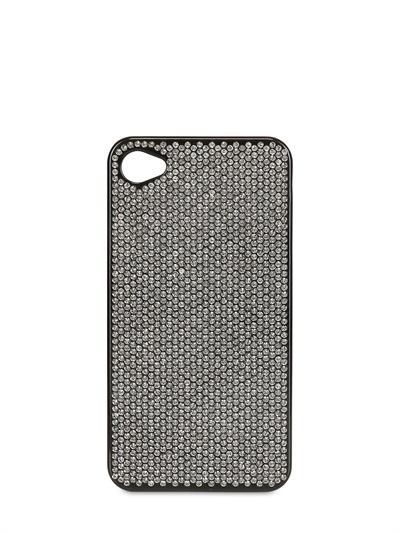 Swarovski Black Crystals I-Phone4 Cover