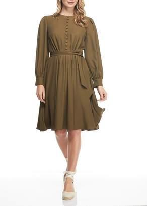 Gal Meets Glam Waist Tie Knee Length Dress