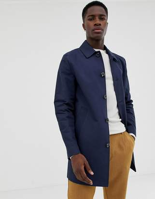 Asos (エイソス) - Asos Design ASOS DESIGN shower resistant single breasted trench in navy