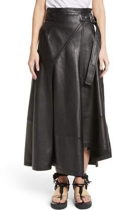 3.1 Phillip Lim Leather Utility Skirt